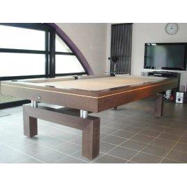 Billard transformable, tapis couleur gold, modèle de la table : arcade