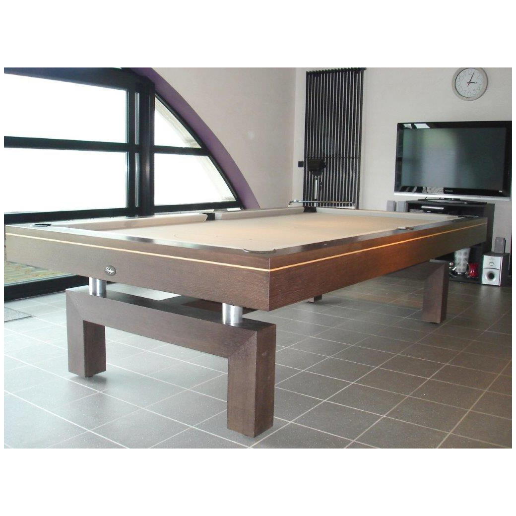 Billard transformable, tapis couleur gold, modèle de la table : arcade
