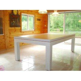 Billard table a manger, plateau table blanc