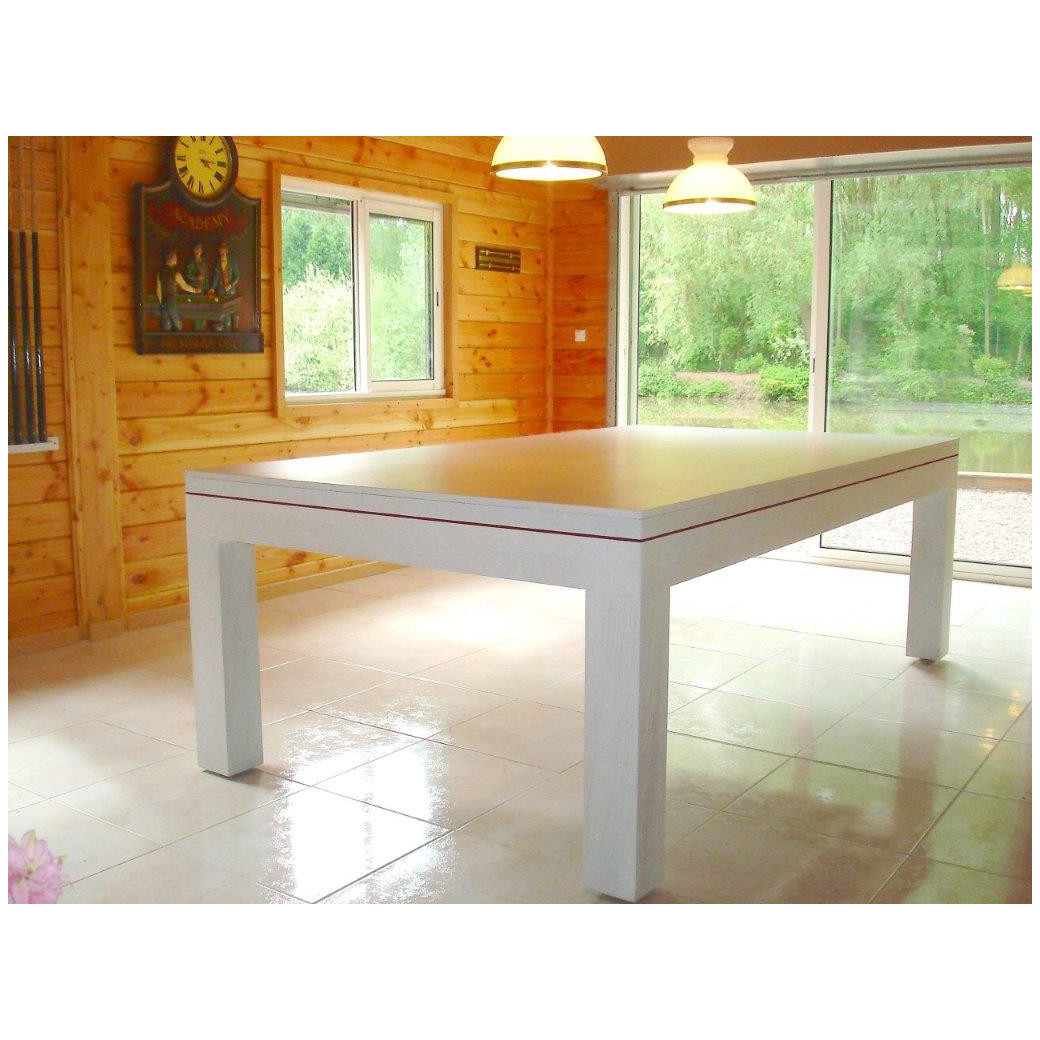 Billard table a manger, plateau table blanc