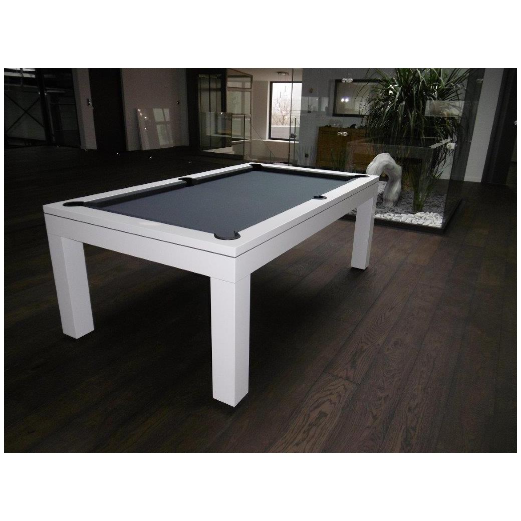 Billard américain convertible table, tapis gris billard Lafuge