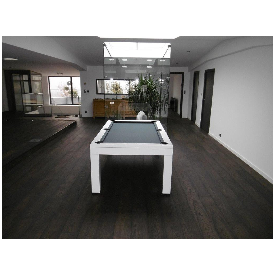 Table de billard transformable, en jeu américain