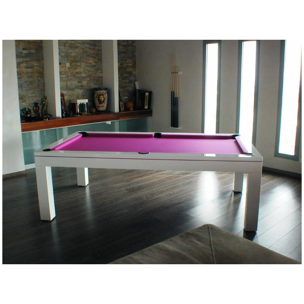 Billard table transformable, tapis de billard fushia