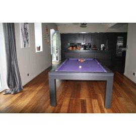 Billard transformable en table, eos wenge purple