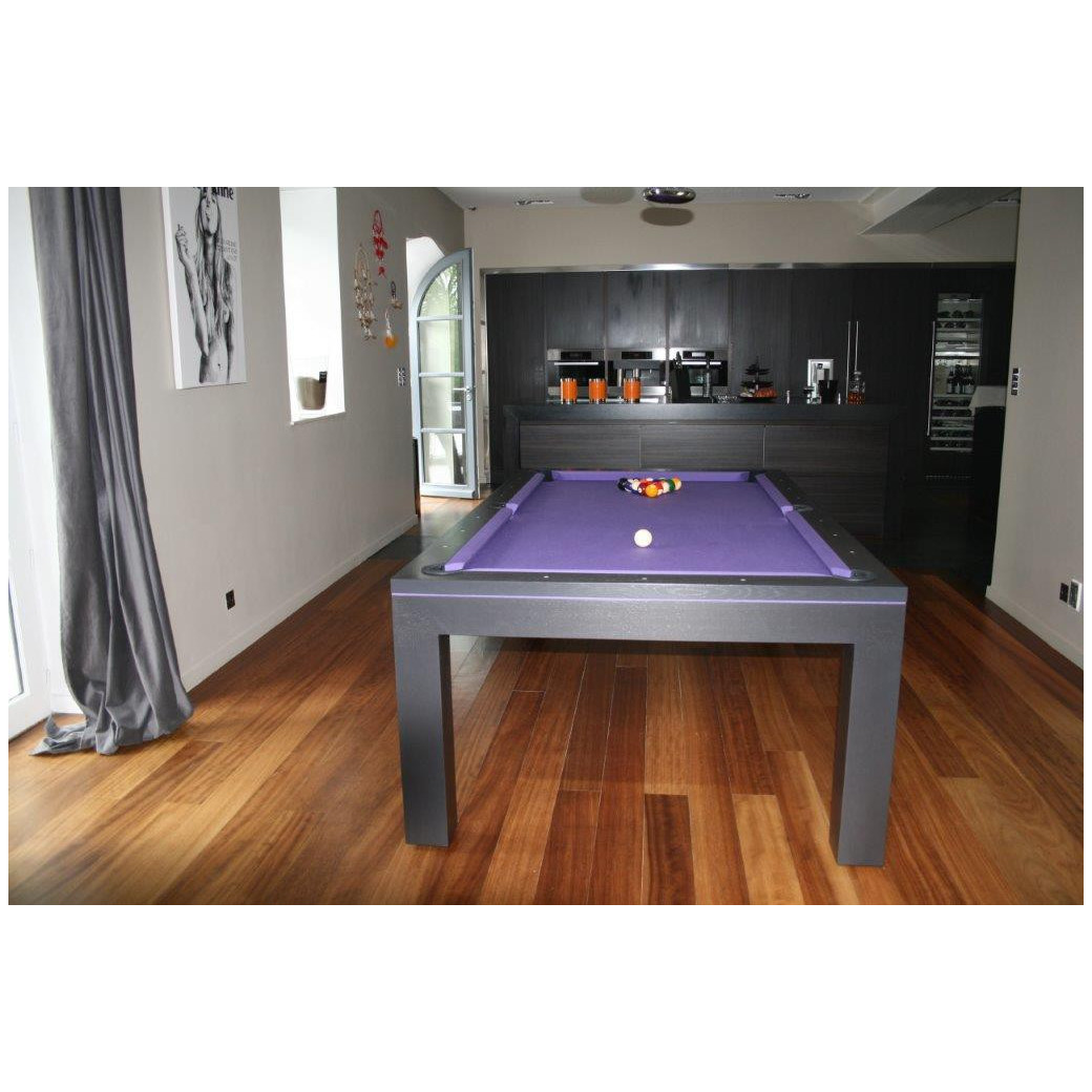 Billard transformable en table, eos wenge purple
