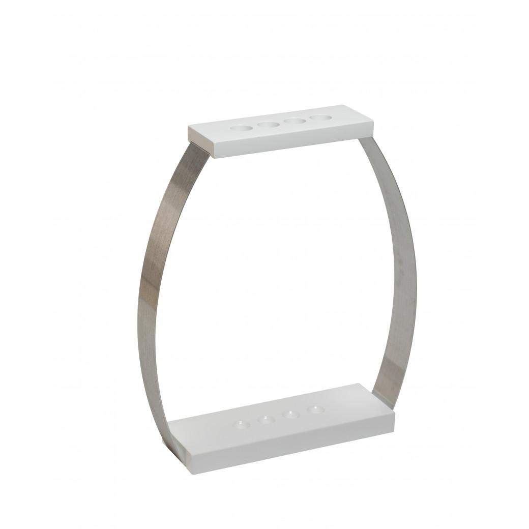 Porte queues Design laqué blanc 4 positions