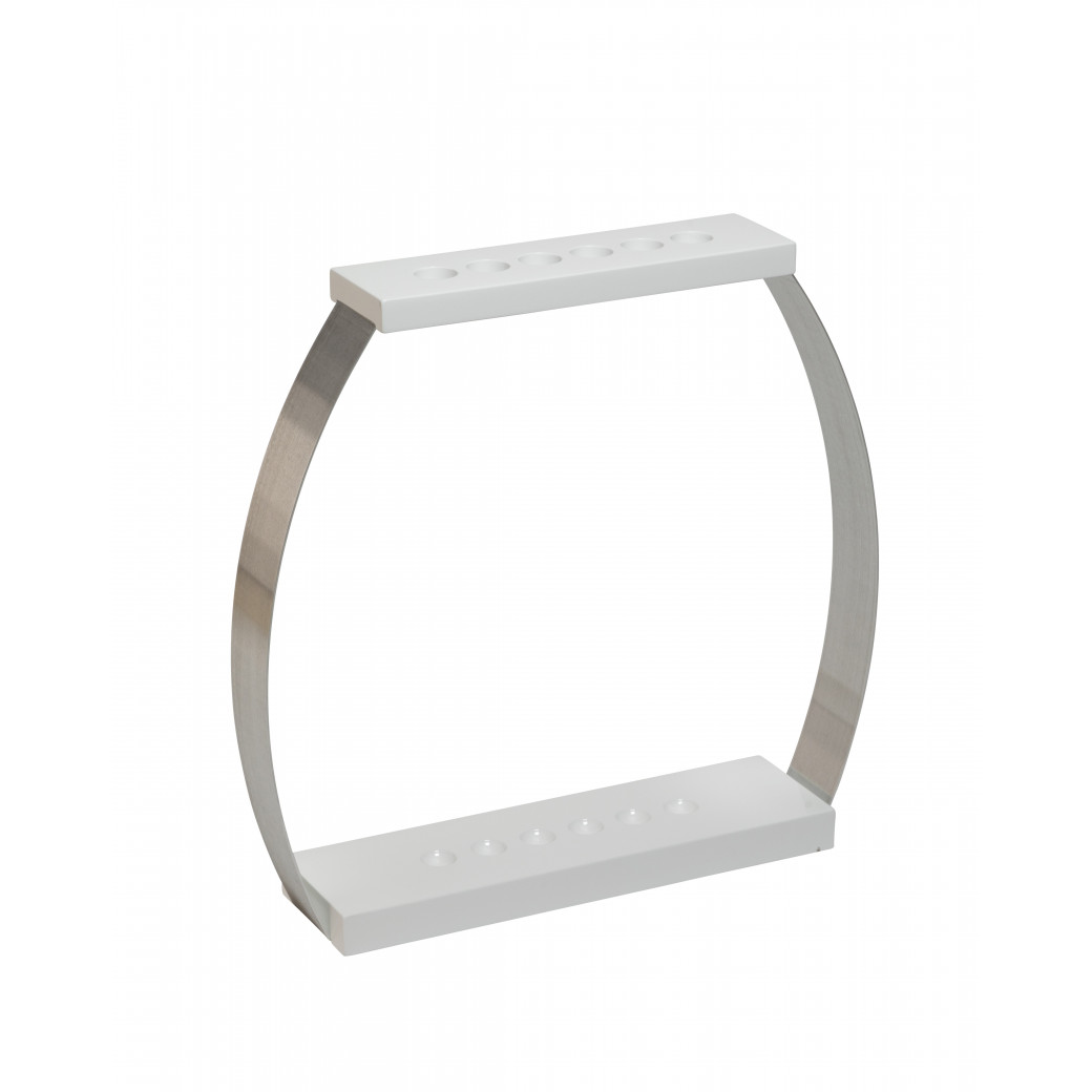 Porte queues Design 6 positions laqué blanc