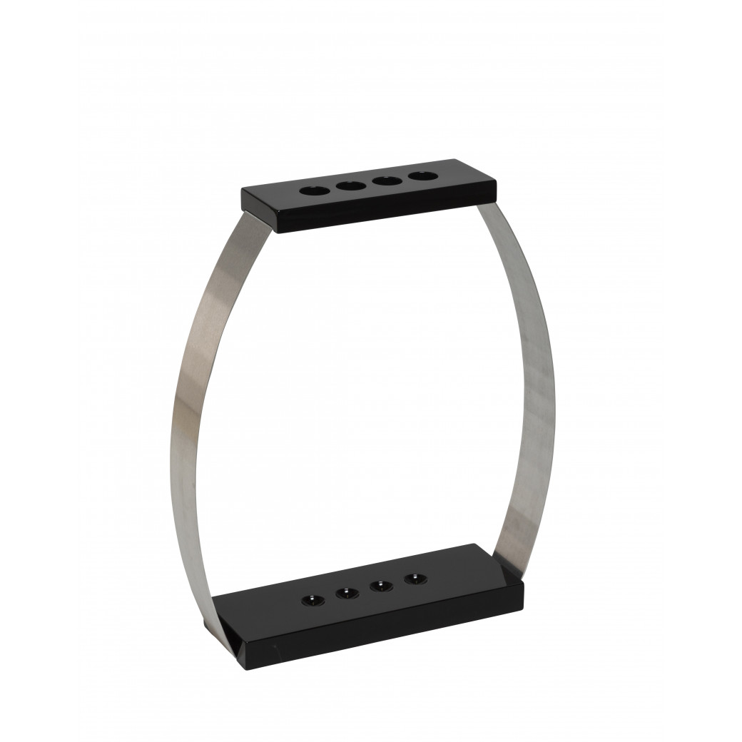 Porte queues Design 4 positions laqué noir brillant
