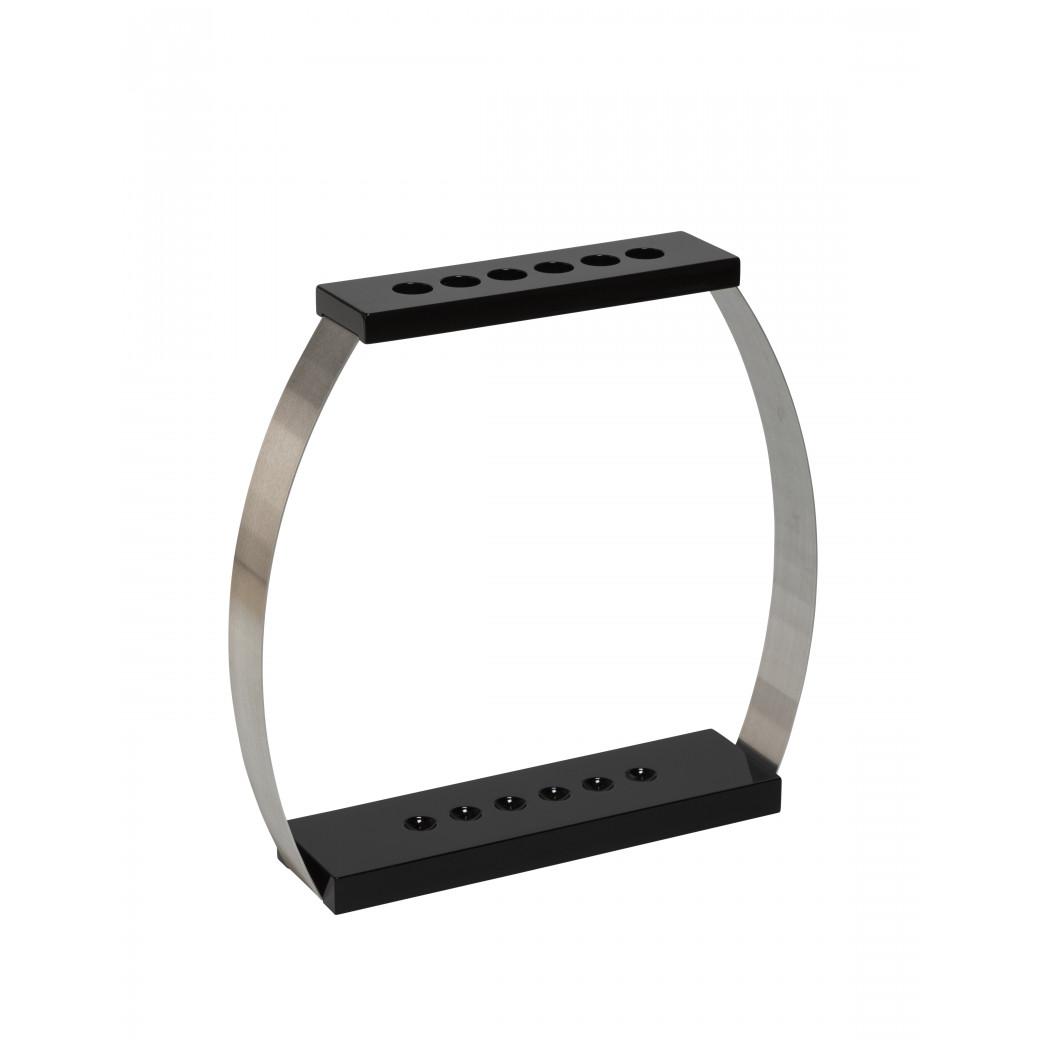 Porte queues Design 6 positions laqué noir
