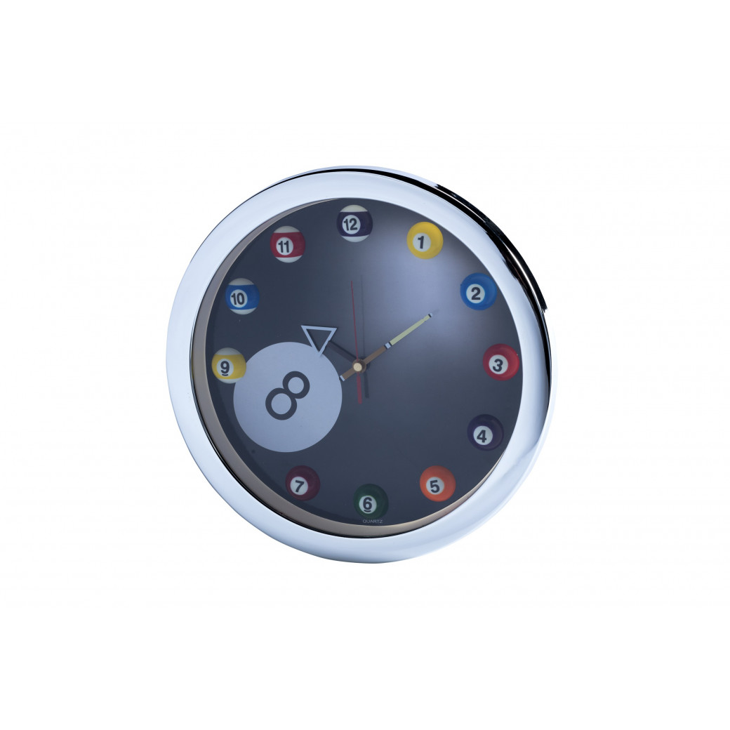 Horloge style Billard 8 pool