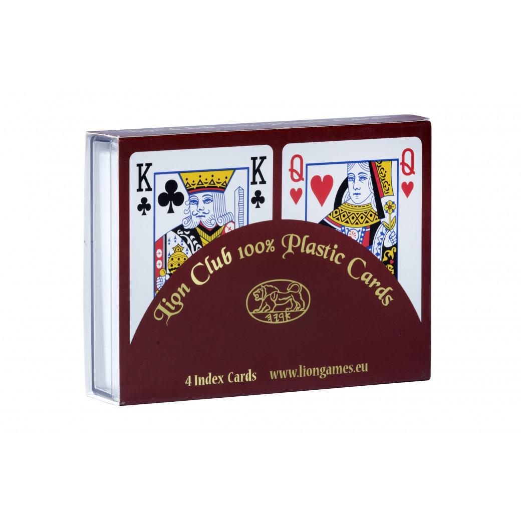 2 Jeux de cartes Poker 100% Plastique