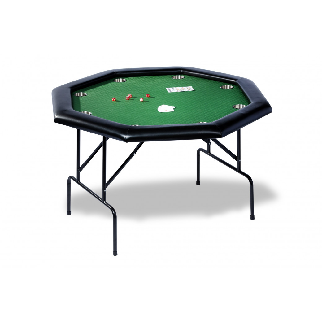 Table poker hexagonale en 1,20 m