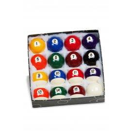 16 billes Américaines diamètre 50,8 mm + 1 règle du jeu
