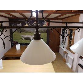Lustre 3 lampes acier vieilli
