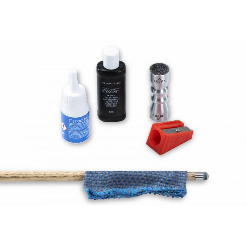 Kit de réparation et d'entretien des queues de billard