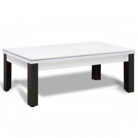 Billard convertible : plateau table bois blanc en 2 parties, modèle Rio