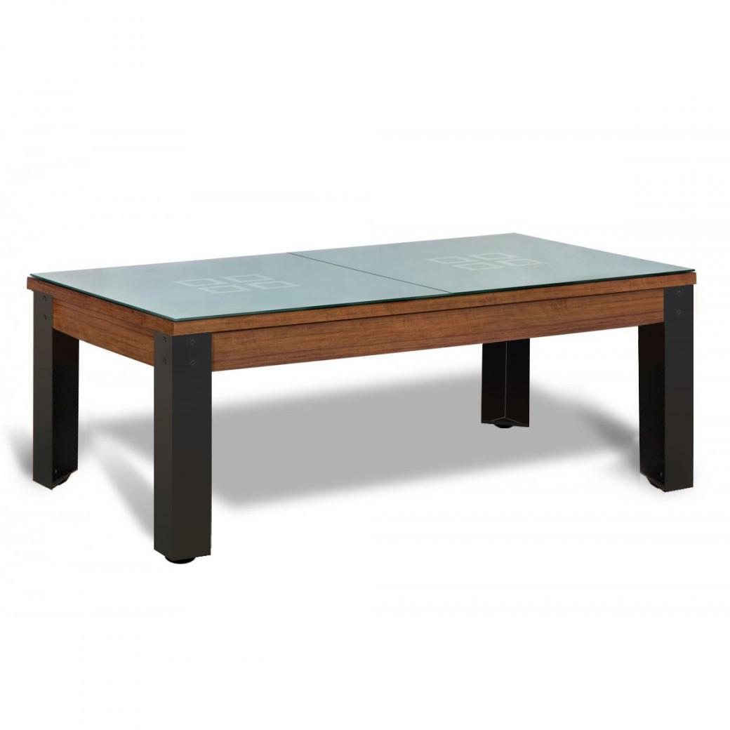 Billard de table : dessus de table en verre
