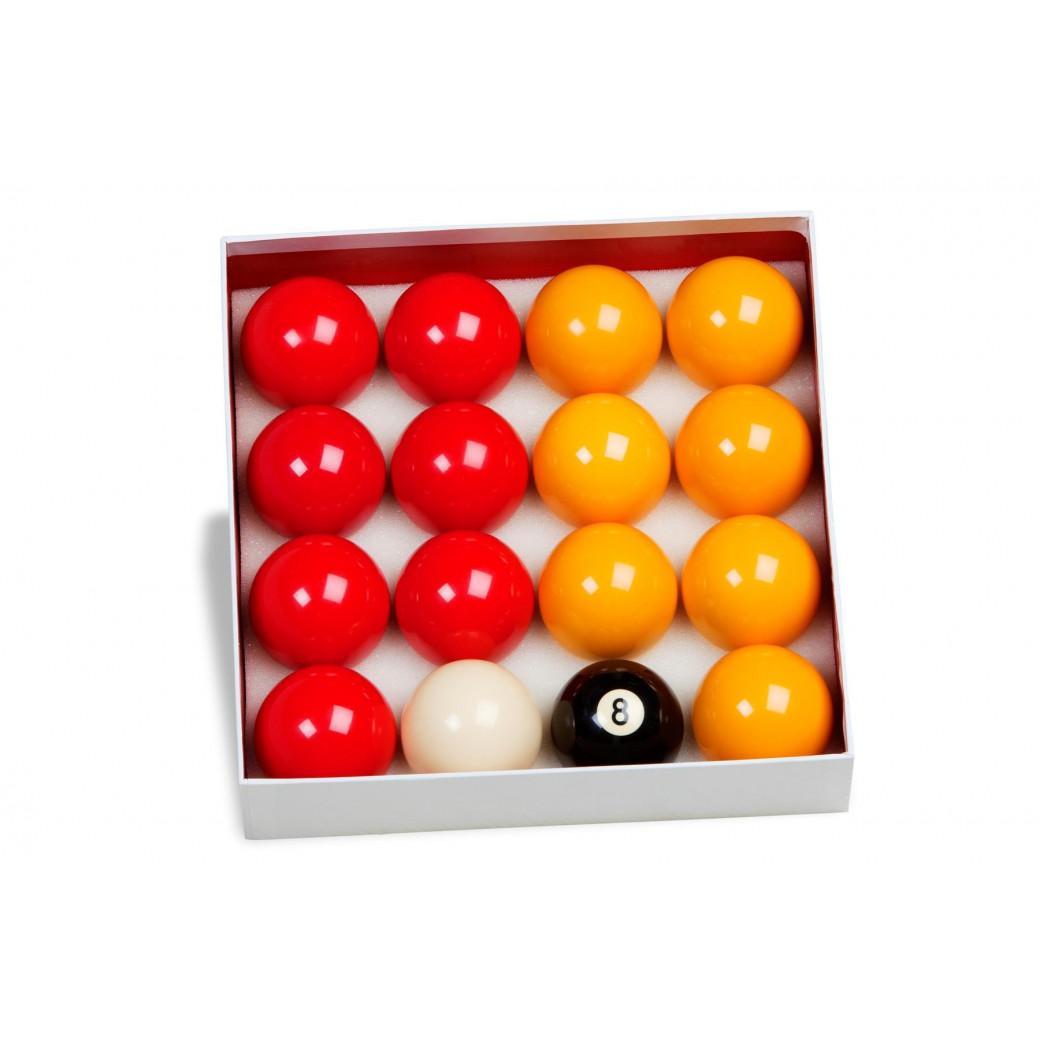 16 billes POOL Ø 50,8 mm + 1 règle de jeu