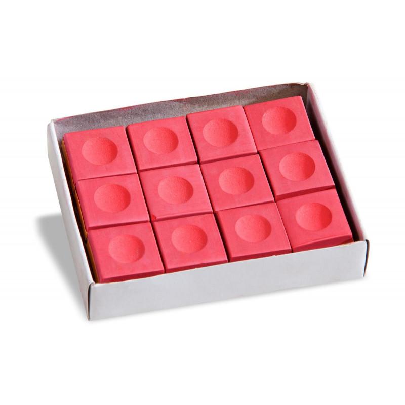 Boîte de 12  craies rouges
