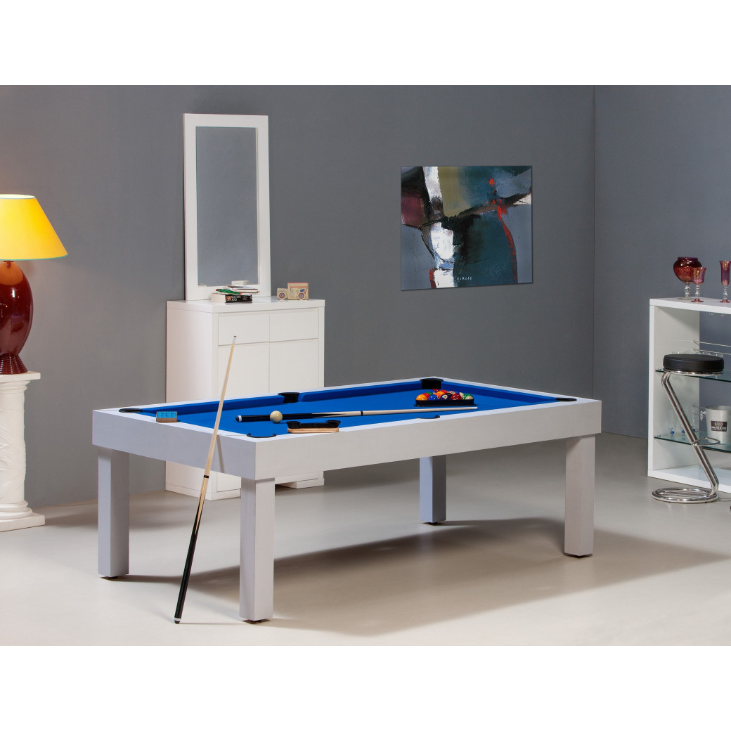 Billard table américain : Bora-Bora blanc