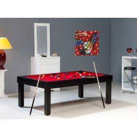 Table de billard transformable en table noir