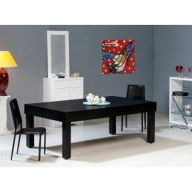Billard table américain Bora-Bora noir et tapis rouge