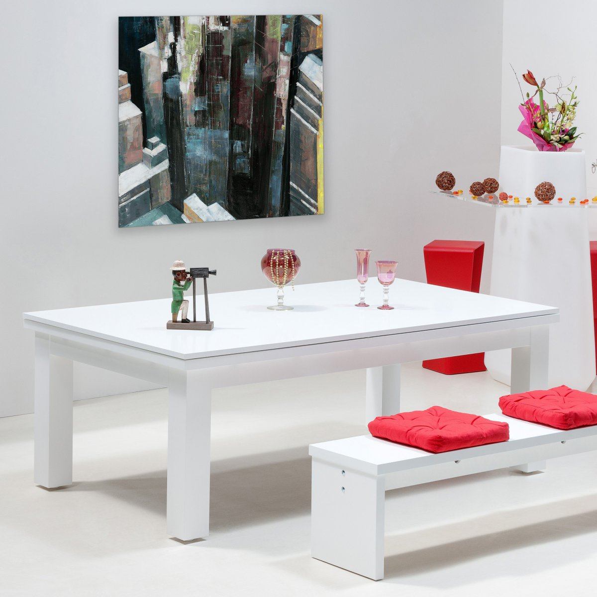 Table transformable new york - Table basse relevable new york ...