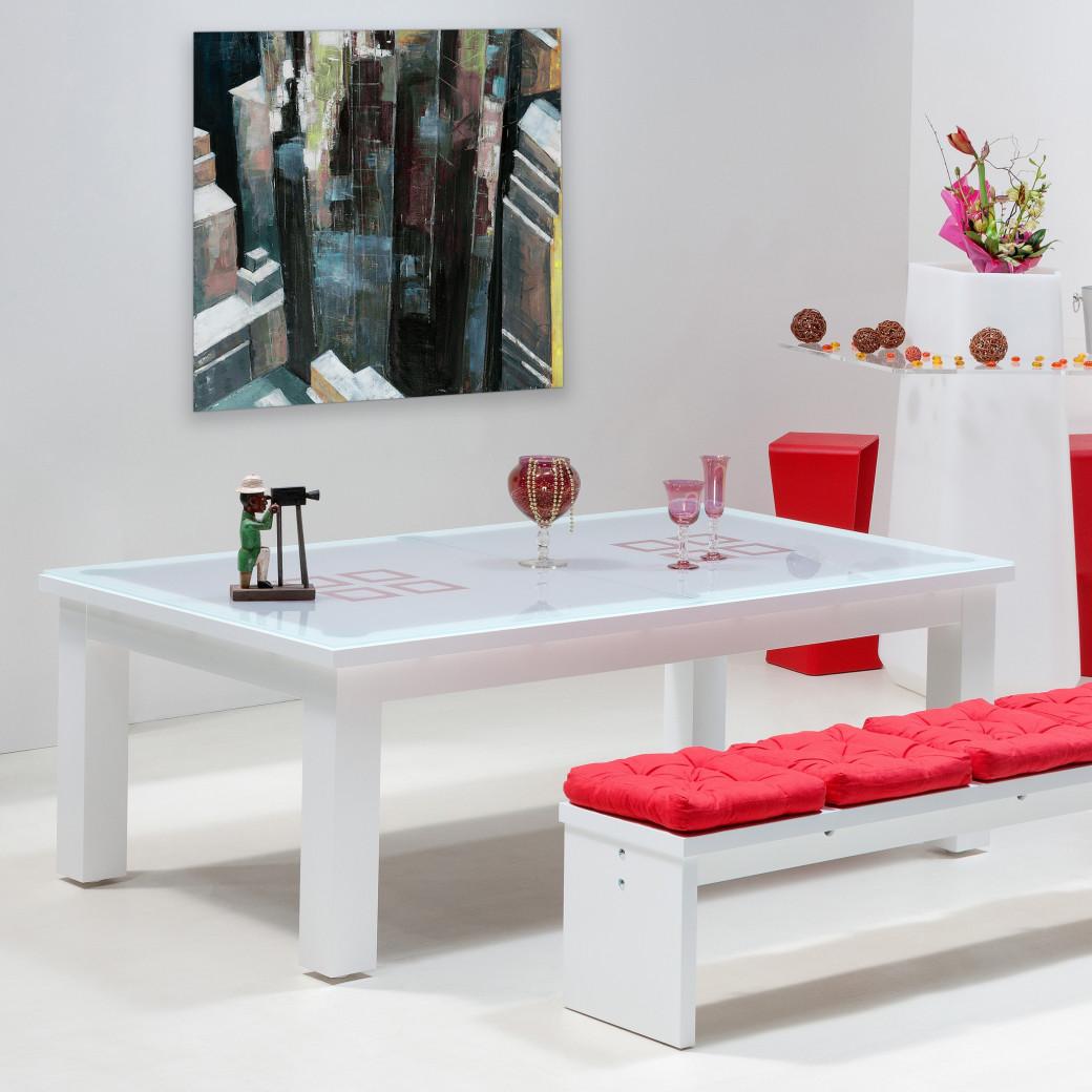 Billard table, billard transformable avec dessus de table en verre