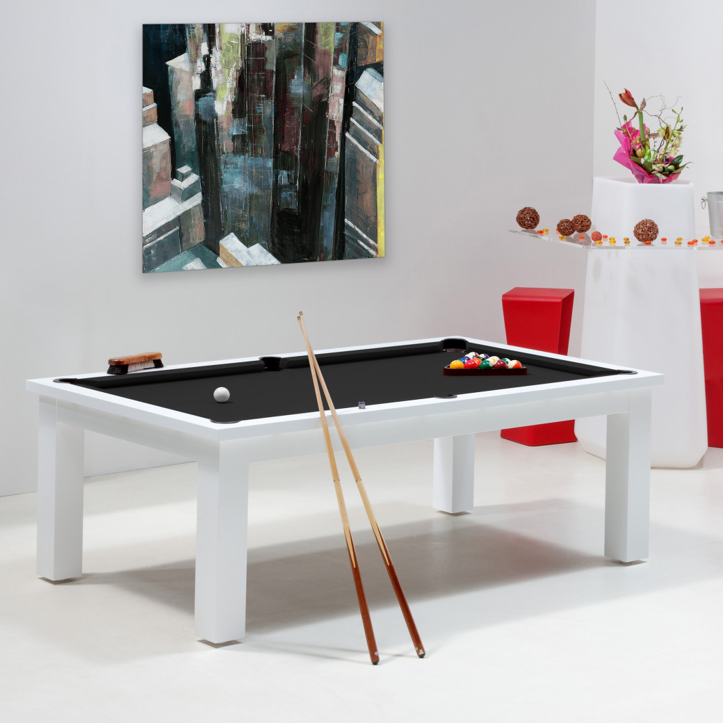 Billard noir, table de billard convertible