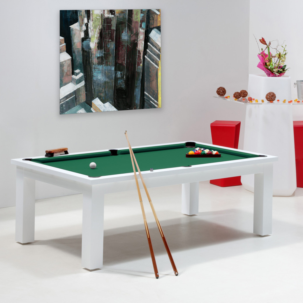 Billard transformable - Tapis de billard vert jaune