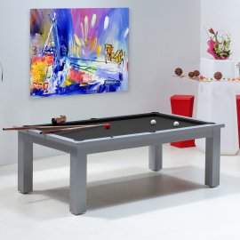 Table billard transformable, tapis billard noir