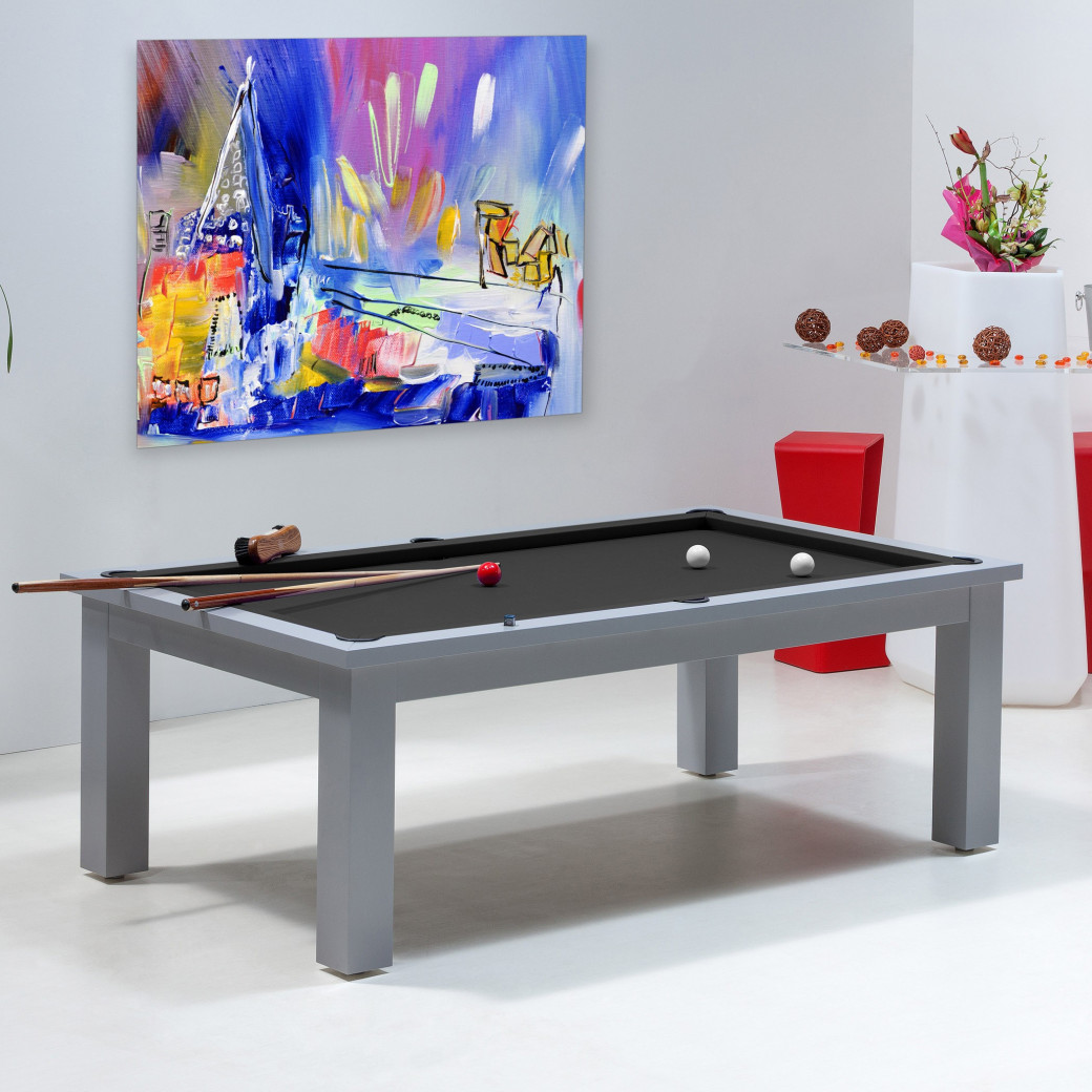 Table billard transformable, tapis billard noir