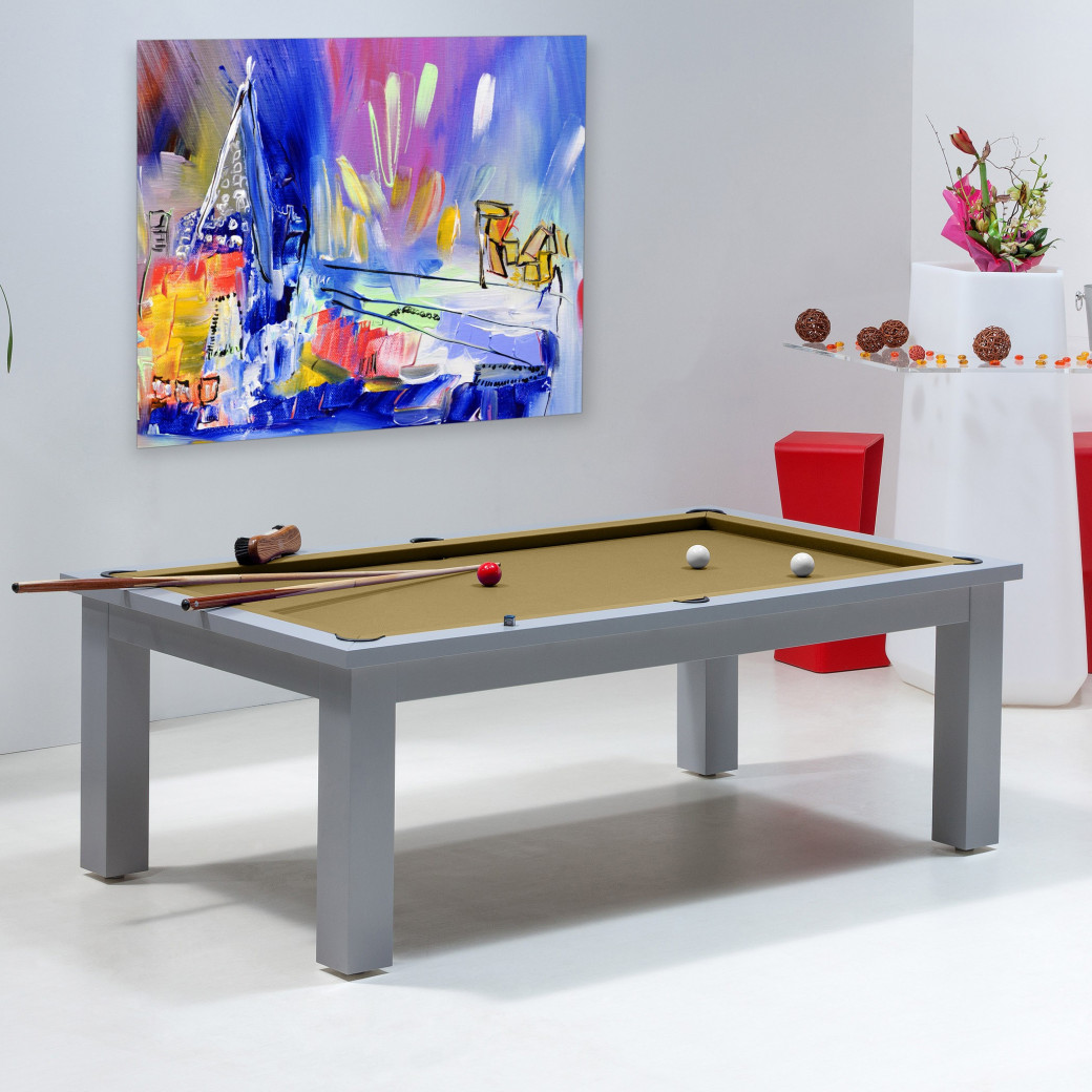 Billard de luxe, tapis de billard gold couleur or