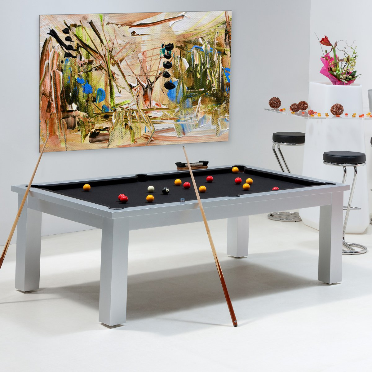 Billard table billard convertible billard table memphis - Billard transformable en table ...