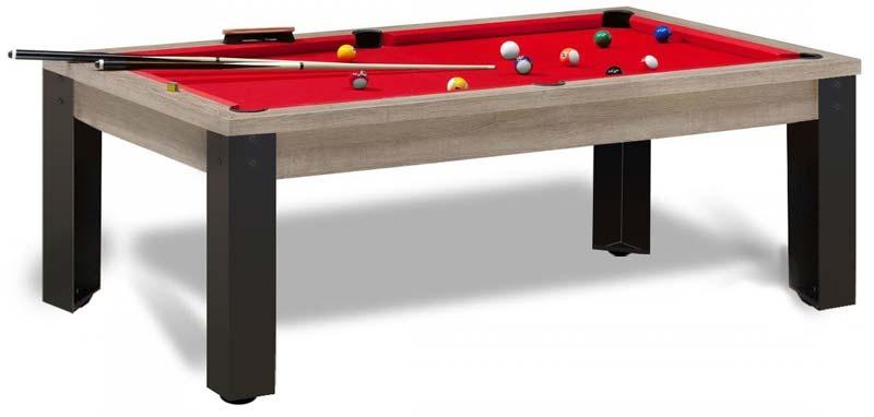 table billard industriel, pieds métal, plateau ardoise