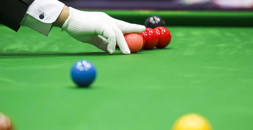Compétition professionnelle de billard snooker