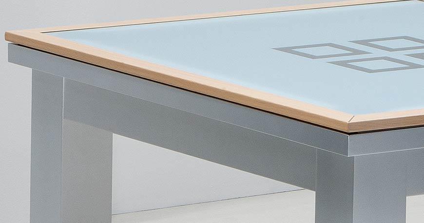 Table billard convertible design : verre et bois