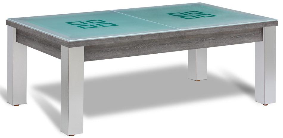 Billard transformable en table de verre