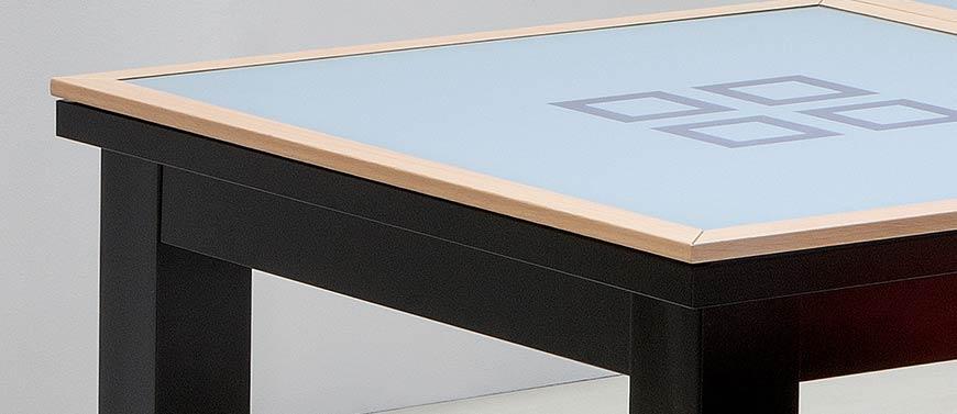 Billard transformable, billard en verre et cadre bois
