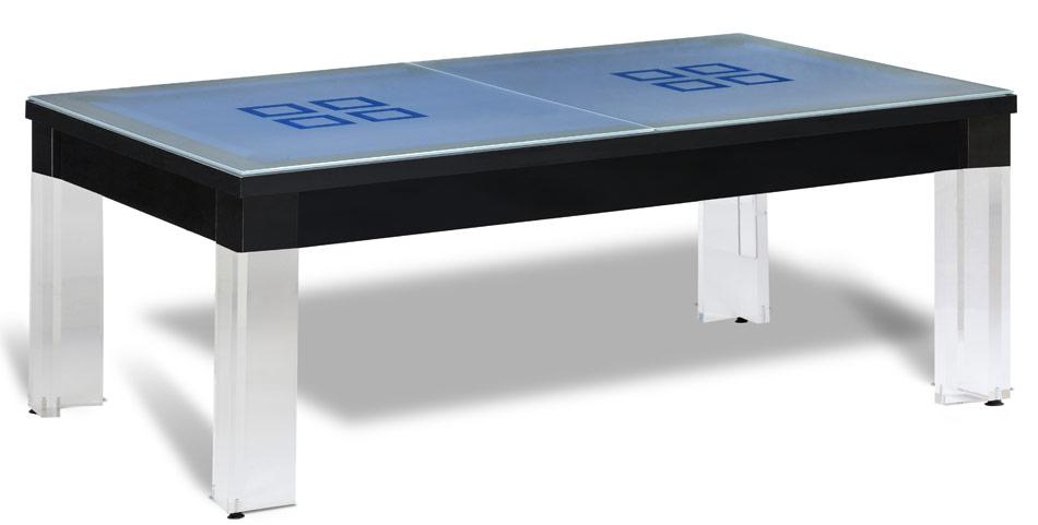 Table billard convertible transparente