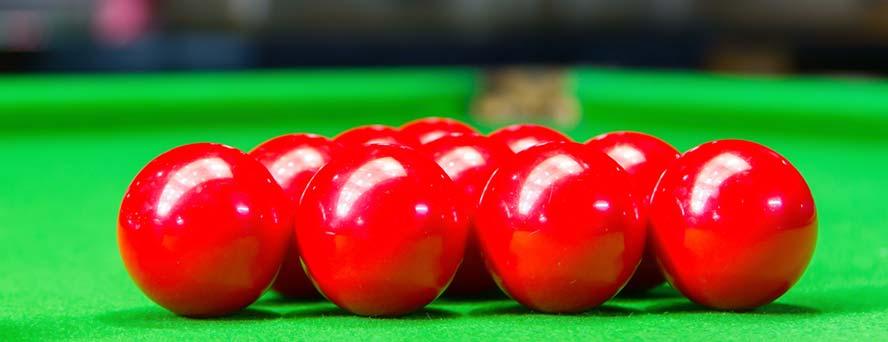 Boules rouges pour billard snooker