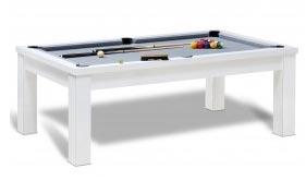 Table de billard pool Rio en bois blanc avec jeu 8 pool