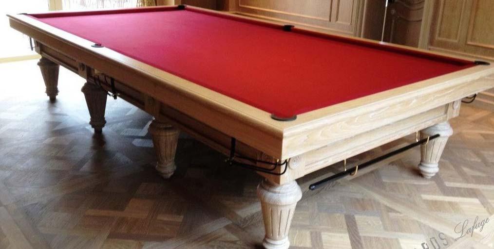 Billard snooker 12 ft : Chambord Lafuge 383 cm de long