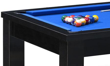 Billard americain table avec tapis bleu pour jeu de billard americain us livré avec accessoires.