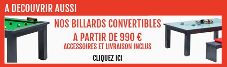 Table de billard convertible pas cher à partir de 990 €