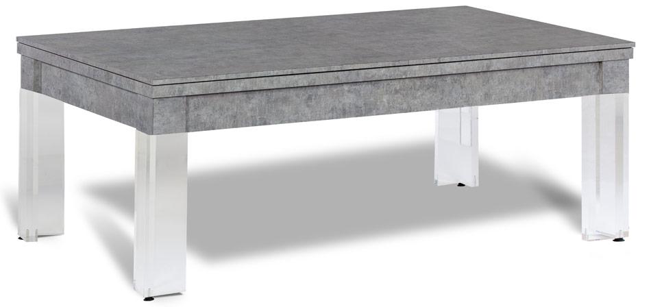 Billard table a manger transparent