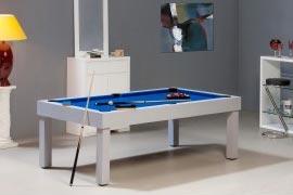Table de billard américain en bois blanc avec dessus table et accessoires