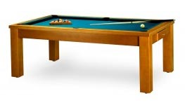queue de billard sur la table en bois du modèle Cabourg