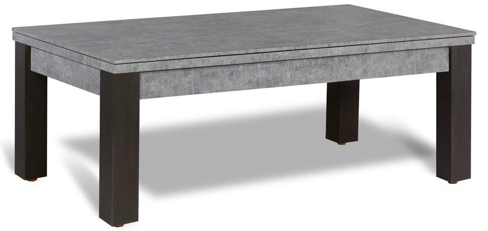 Billard table a manger, en bois noir et pieds anthracite