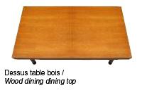 Billard table convertible avec dessus table bois